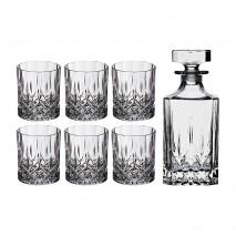 Набор для виски RCR 305-115 ,7 пред.: штоф + 6 стаканов 750+300 мл.высота 22/8 см.