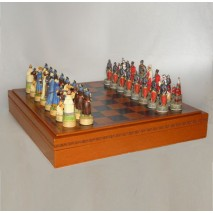 Шахматы Московия-Золотая орда, набор игр 3 в 1 (шашки, нарды, шахматы)