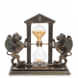 "Статуэтка Veronese Песочные часы ""Два крылатых льва"" (bronze)"