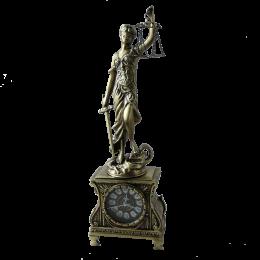 """Часы """"Богиня правосудия Фемида"""", антик"""