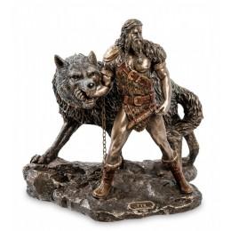 """Статуэтка Veronese """"Тюр - бог воинской храбрости и Враг богов - Фенрир"""""""