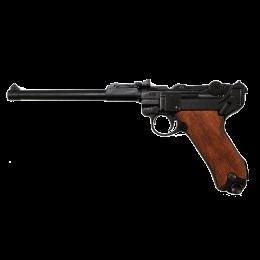 """Пистолет """"Люгер"""" P08 артиллерийский, Германия, 1917г. 1-я и 2-ая МВ, дер. накладки на рукоять"""