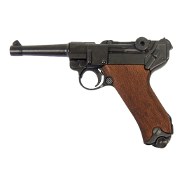 """Макет пистолета """"Люгер"""" P08, Германия, 1898г. 1-я и 2-ая МВ с дерев. накладкой на рукоять"""