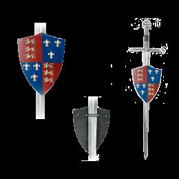 Щит рыцарский Черного принца ( Эдварда, принца Уэльского, 1330 – 1376)