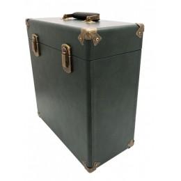 Кейс для виниловых пластинок GPO Green/Black