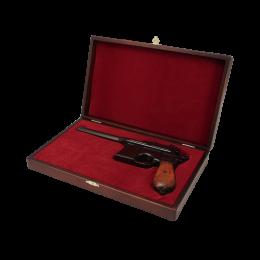 Маузер пистолет с дер. накладками на рукояти в дер. подарочном футляре