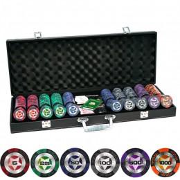 """Профессиональный набор для покера """"Star Club Poker 500"""" в кожаном кейсе"""