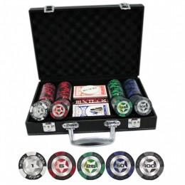 """Набор для покера на 300 фишек """"Stars"""" кожаном кейсе"""