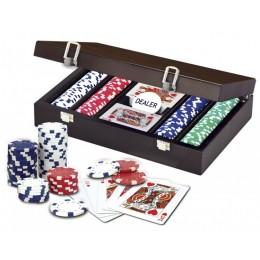 """Набор для покера на 200 фишек """"Craftsman Deluxe"""" в деревянном кейсе"""