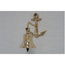 """Колокольчик бронзовый на кронштейне """"Корабельный"""" d7,5 см"""