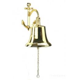 Судовой колокол на якоре Alberti Livio (полир. бронза) d.18см