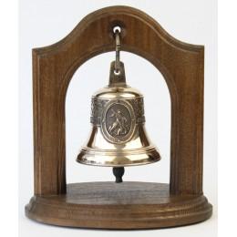 """Колокол бронзовый на подставке """"Георгий Победоносец"""" d7 см"""