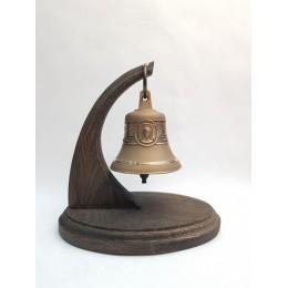 """Колокол бронзовый на подставке """"Святой апостол Павел"""" d7,5 см"""
