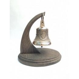"""Колокол бронзовый на подставке """"Святая блж. Матрона Московская"""" d7,5 см"""