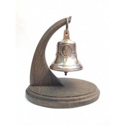 """Колокол бронзовый на подставке """"Святая вмц. Анастасия Узорешительница"""" d7,5 см"""