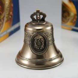 """Колокол бронзовый на подставке """"Икона Святая Троица"""" d12см"""