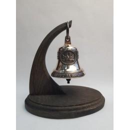"""Колокол бронзовый на подставке """"Свадебный"""" d7,5см"""