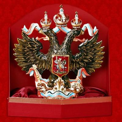 """Подарочный штоф """"Орел"""", цветной с золотом, вместимость - 2 литра"""