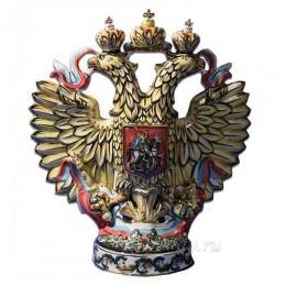 """Подарочный штоф с золотом """"Орёл с гербом"""""""