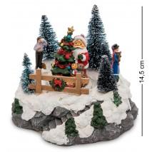 Музыкальная новогодняя миниатюра с подсветкой