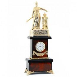 """Каминные часы """"Россия"""" яшма 160х120х420мм"""