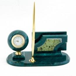 """Настольный мини-набор """"Шар"""" камень змеевик 195х105х90мм"""