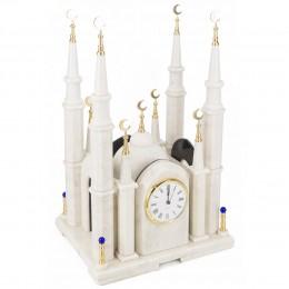 """Декоративные большие часы из мрамора """"Мечеть"""", высота 55 см"""