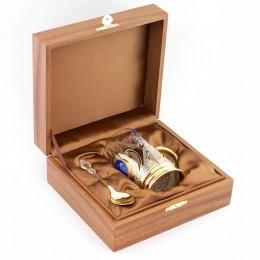 Сувенирный чайный набор из лазурита 115х75х125мм