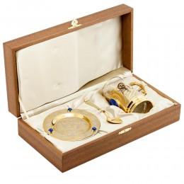 "Чайный набор ""Княгиня"" камень лазурит 130х130х140мм"