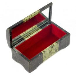 """Шкатулка для украшений из натурального камня """"Ларец"""" 185х90х70мм"""