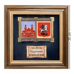 "Панно ""Москва Исторический музей"" бол. 35х35"