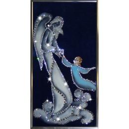 """Картина с кристалами Swarovski """"Ангел-хранитель"""""""
