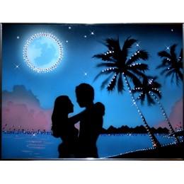 """Картина с кристалами Swarovski """"Вечерний бриз"""""""