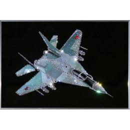 """Картина с кристалами Swarovski """"Военный истребитель"""""""