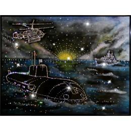 """Картина с кристалами Swarovski """"Дальний Восток"""""""