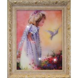 "Картина с кристалами Swarovski ""Детство"""