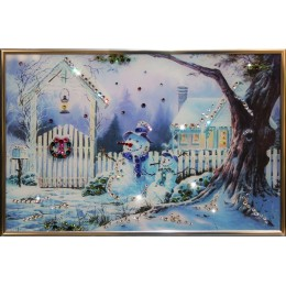 "Картина с кристалами Swarovski ""Зимнее утро"""