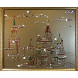 """Картина с кристалами Swarovski """"Красная площадь"""""""