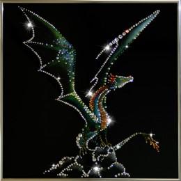 """Картина Swarovski """"Крылатый дракон"""""""