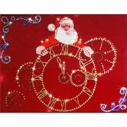"""Картина с кристалами Сваровски """"Новогоднее время"""""""