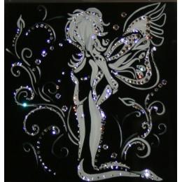 """Картина с кристалами Swarovski """"Ночной мотылек"""""""