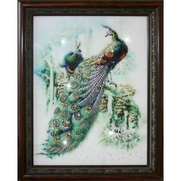 """Картина с кристалами Swarovski """"Павлины"""""""
