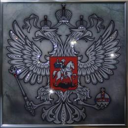"""Картина с кристалами Сваровски """"Герб (серебро)"""""""