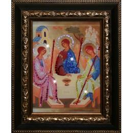 """Икона с кристалами Swarovski """" Святой Троицы"""""""