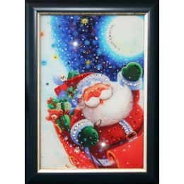 "Картина с кристалами Swarovski ""Санта Клаус"""