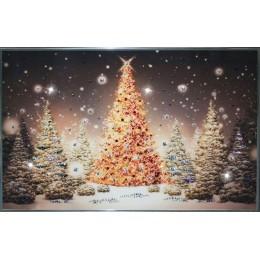 """Картина Swarovski """"Новогодняя елка"""""""
