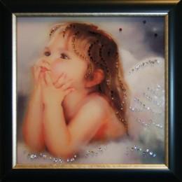 "Картина с кристалами Swarovski ""Ты мой ангел"""