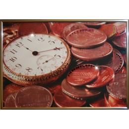 """Картина с кристалами Swarovski """"Время деньги 2"""""""