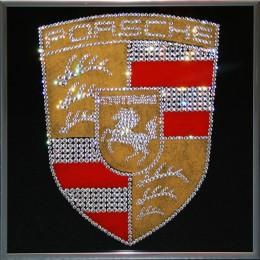 """Картина с кристалами Сваровски """" Porsche"""""""
