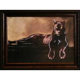 "Картина Swarovski ""Грация пантеры"""